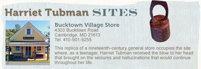 Harriet tubman sites