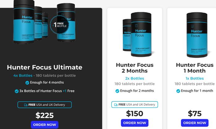Hunter Focus pricing