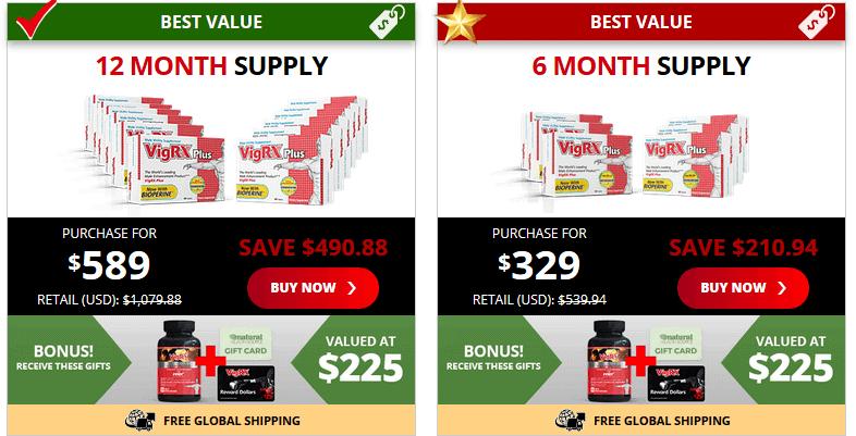 vigrx plus pricing